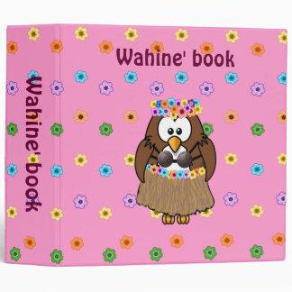 wahine owl vinyl binders
