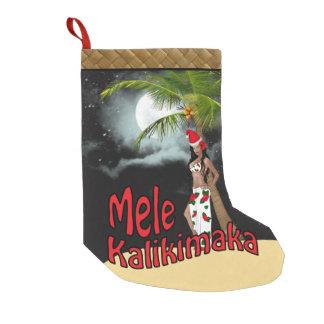 Wahine Pin-up Mele Kalikimaka Christmas Stocking L