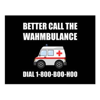 Wahmbulance Boo Hoo Postcard