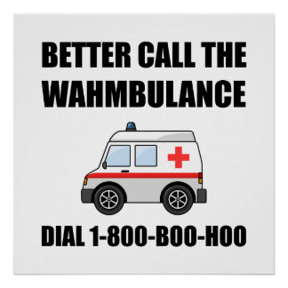 Wahmbulance Boo Hoo Poster