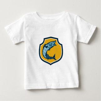 Wahoo Fish Jumping Shield Retro Baby T-Shirt