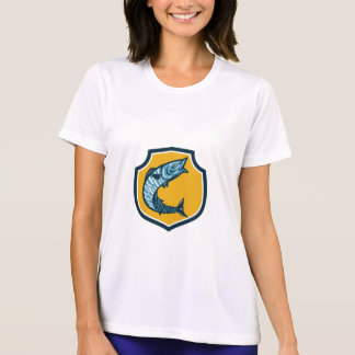 Wahoo Fish Jumping Shield Retro T-Shirt
