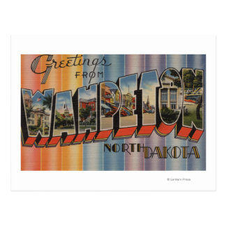 Wahpeton, North Dakota - Large Letter Scenes Postcard