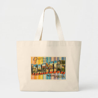 Wahpeton North Dakota ND Vintage Travel Souvenir Large Tote Bag