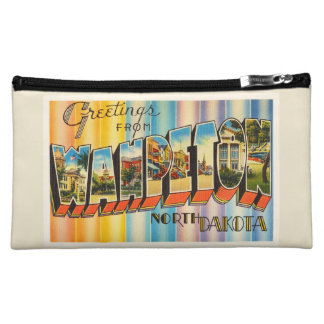 Wahpeton North Dakota ND Vintage Travel Souvenir Makeup Bags