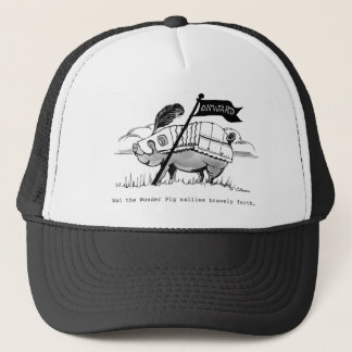 Wai The Pig Cap,  artwork by Charlotte Moore Trucker Hat