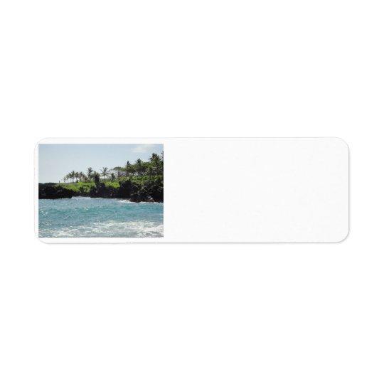 Waianapanapa State Park, Maui Address Label