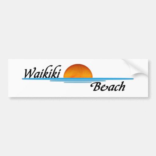 Waikiki Beach Bumper Stickers