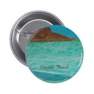 Waikiki Beach Pinback Button