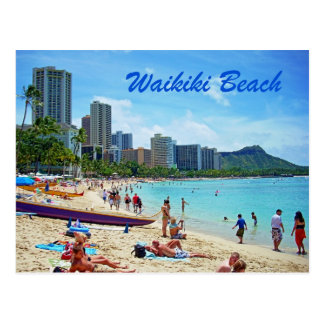 Waikiki Beach Card Postcard