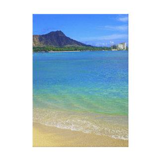 Waikiki Beach Gallery Wrap Canvas