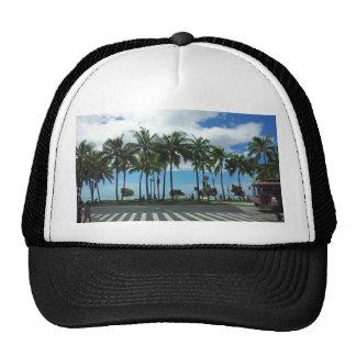 Waikiki Beach Hawaii Mesh Hats