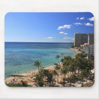 Waikiki Beach Hawaii Mouse Pad