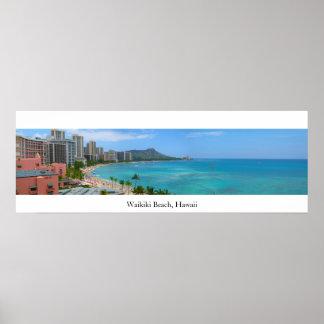 Waikiki Beach, Hawaii Poster