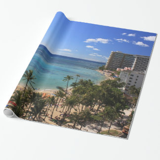Waikiki Beach Hawaii Wrapping Paper