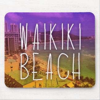 waikiki beach mouse pad