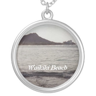 Waikiki Beach Round Pendant Necklace