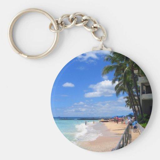 Waikiki Beach, Oahu, Hawaii Keychain