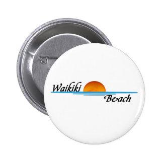 Waikiki Beach Pinback Buttons