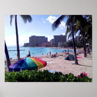 Waikiki Beach Poster Print