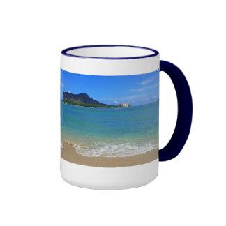 Waikiki Beach Ringer Coffee Mug