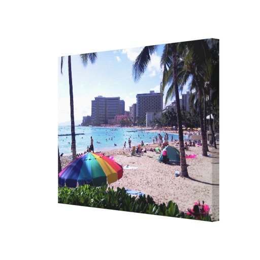 Waikiki Beach Wrapped Canvas Gallery Wrapped Canvas