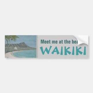 WAIKIKI bumper sticker