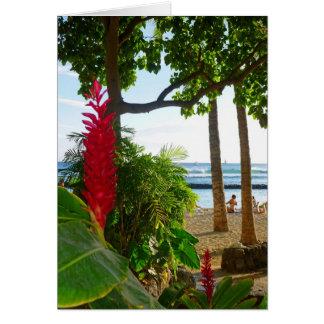 Waikiki Ginger Greeting Card
