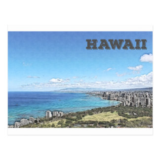 Waikiki, Hawaii Postcard