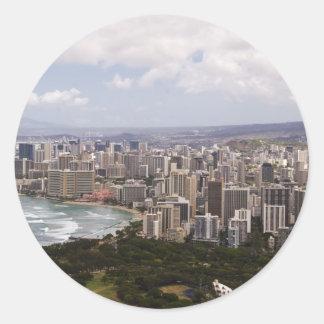 Waikiki Round Sticker