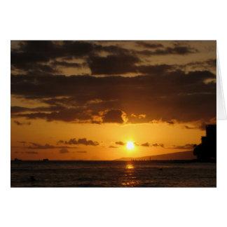Waikiki Sunset Blank Card