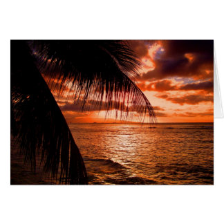 Waikiki Sunset I Card