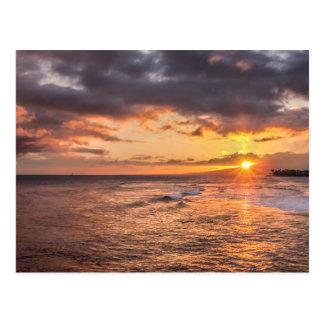 Waikiki Sunset Postcard
