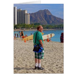 Waikiki Tourist Greeting Card
