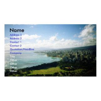 Waikiki view business card templates