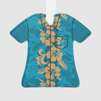 Waikoloa Faux Wood Hawaiian Hibiscus Aloha Shirt Ornament
