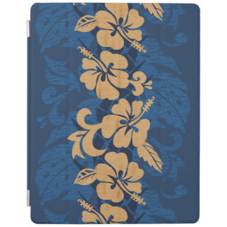 Waikoloa Faux Wood Hawaiian Hibiscus Floral iPad Cover