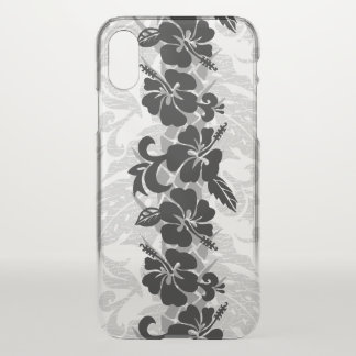 Waikoloa Hawaiian Hibiscus Floral Black iPhone X Case