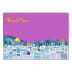 Wailing Wall Israel Bar Bat Mitzvah Thank You Card