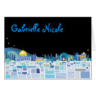 Wailing Wall Israel Bar Bat Mitzvah thank You Card