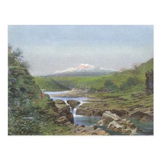 'Wailuku Falls, Hilo' - Jules Tavernier Postcard