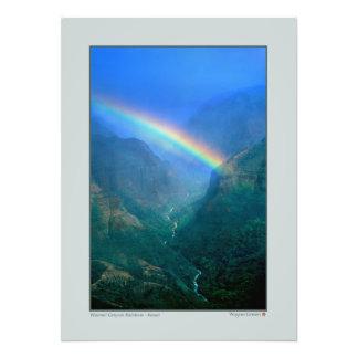 Waimai Canyon Rainbow - Kauai Photo