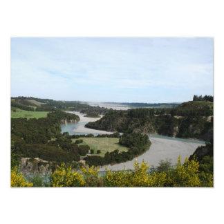Waimakariri river, Southern Alps, New Zealand Photo Art