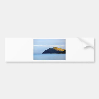 Waimanalo Bay and Makapuu Lighthouse at dusk Bumper Sticker