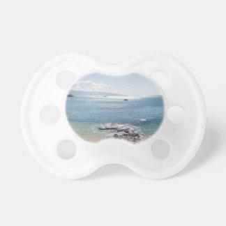 waimea bay panorama baby pacifiers