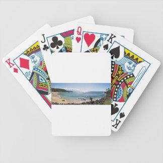 waimea bay panorama bicycle playing cards