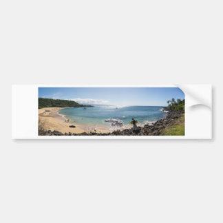waimea bay panorama bumper sticker