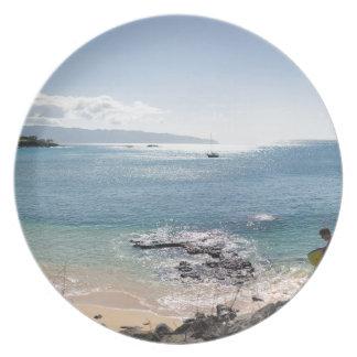 waimea bay panorama plate