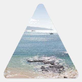waimea bay panorama triangle sticker