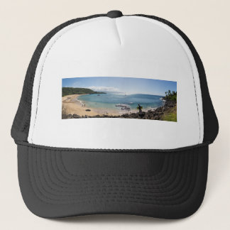 waimea bay panorama trucker hat